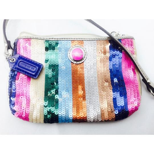 Coach Coach Multi Color Sequin Wristlet Wallet Image 1