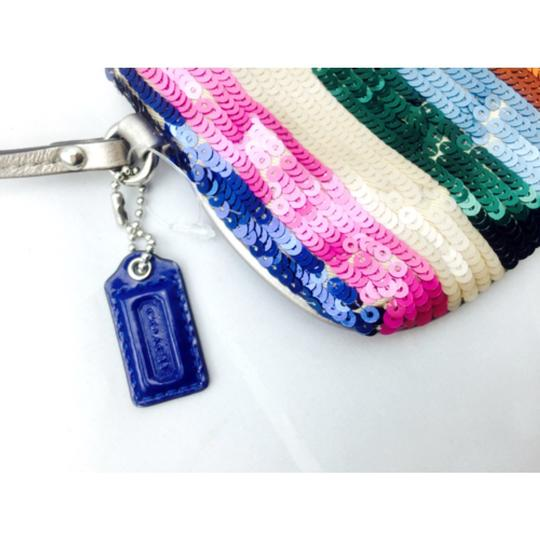 Coach Coach Multi Color Sequin Wristlet Wallet Image 2