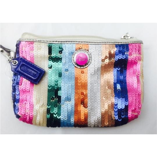 Coach Coach Multi Color Sequin Wristlet Wallet Image 3