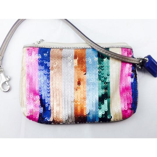 Coach Coach Multi Color Sequin Wristlet Wallet Image 4