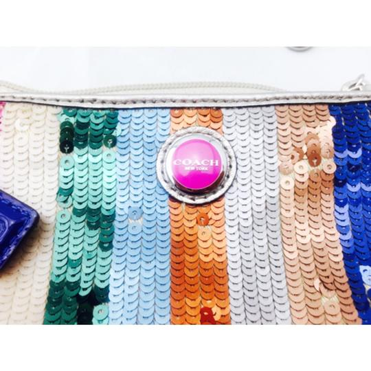Coach Coach Multi Color Sequin Wristlet Wallet Image 6