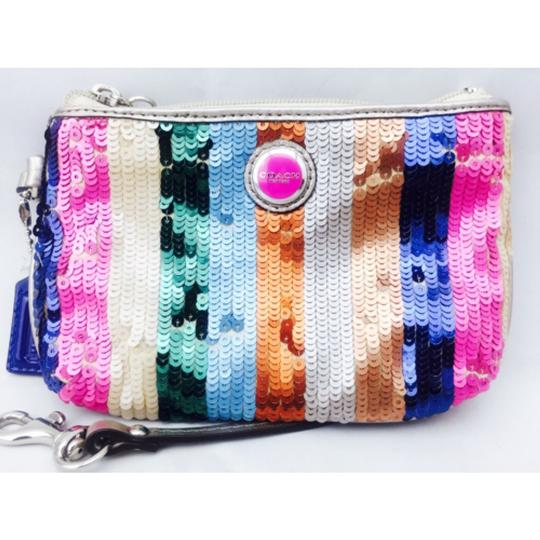 Coach Coach Multi Color Sequin Wristlet Wallet Image 7