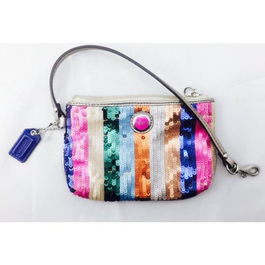 Coach Coach Multi Color Sequin Wristlet Wallet Image 8