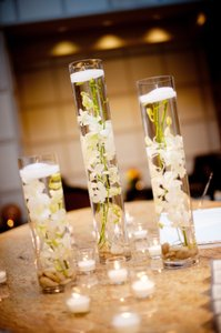 "1 - 1/2"" White Floating Candles"