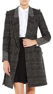 Saint Laurent Ysl Yves Plaid Pea Coat
