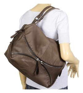Linea Pelle Tote Zipper Hobo Bag
