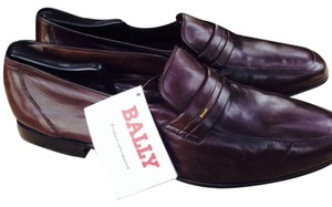 Bally Men's Loafer Switzerland New Calf Leather Brown Flats