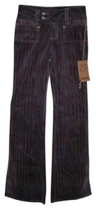 Foxy Corduroys Striped Flare Pants Multi Color