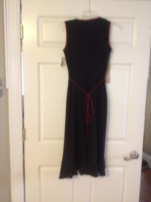 Black With Burgandy Trim Maxi Dress by Charlotte Russe