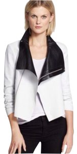 VEDA Leather White Leather Jacket