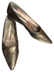 Donald J. Pliner Pewter Green/METALLIC Flats