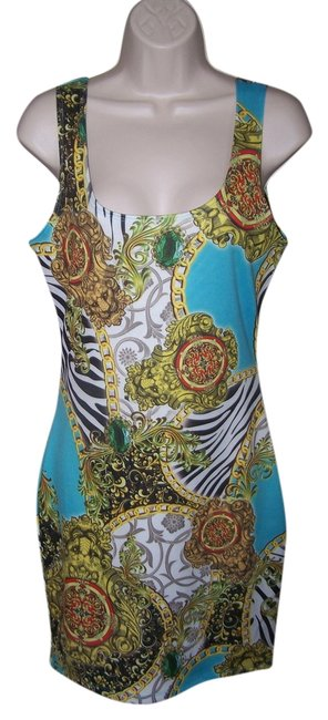 Item - Multi Color *small Junior* Sexy Open Back Chains Sleeveless Bodycon New Mini Night Out Dress Size 6 (S)