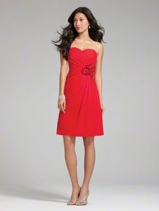 Alfred Angelo Cherry Polyester 7180s Casual Bridesmaid/Mob Dress Size 8 (M)