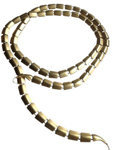 Gold tone snake belt or necklace snake chain