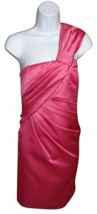 Phoebe Couture One Prom Pink Wedding Satin Prom Bow Pink Banquet Party Bloomingdales Asymmetrical Designer Dance Nwt Xs Cocktail Dress