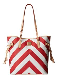 Dooney & Bourke Tote in Red w/ Natural Trim