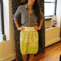 J.Crew Floral Art Deco Skirt green and white Image 2