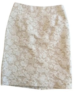 Banana Republic Skirt White/ tan