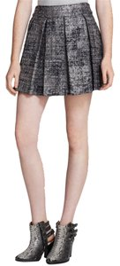 Alice + Olivia Mini Skirt Silver, Black, White