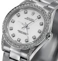 Rolex Rolex Ladies Diamond Oyster 67480 Midsize 31m mother of pearl Image 0
