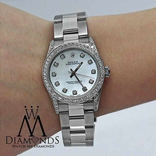 Rolex Rolex Ladies Diamond Oyster 67480 Midsize 31m mother of pearl Image 1