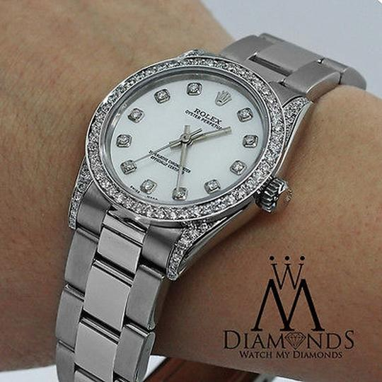 Rolex Rolex Ladies Diamond Oyster 67480 Midsize 31m mother of pearl Image 2