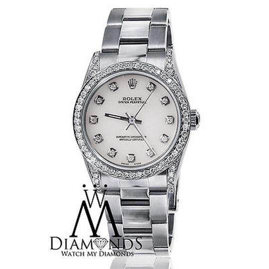 Rolex Rolex Ladies Diamond Oyster 67480 Midsize 31m mother of pearl Image 7