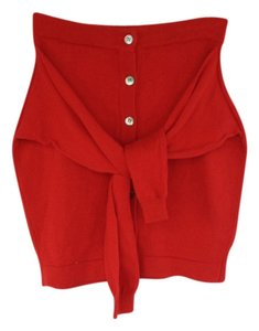DKNY Mini Skirt Red