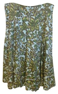 Merona Flowers Spring Work Skirt Blue, Green, Brown