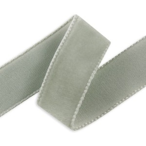 56 Yards Light Grey Velvet Ribbon