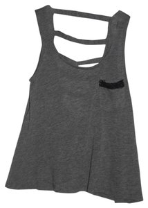 Charlotte Russe Top Gray and black