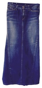 Replay Maxi Skirt Blue denim