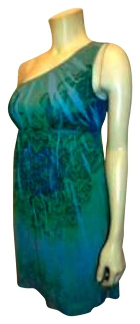 Johnny Martin short dress BLUE Size 5 Summer Stretchy on Tradesy