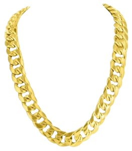 Real 10k Yellow Gold Necklace Mens Miami Cuban Link 11mm Chain 30 Inches