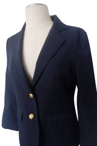 Tallulah Sunrise Cropped Sleeve Navy Blazer