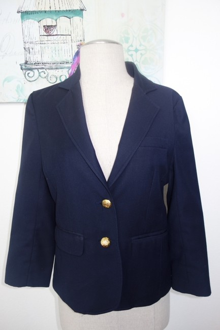Tallulah Sunrise Cropped Sleeve Chic Fashion Style Navy Blazer