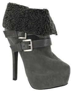 Red Circle Footwear Highheel Sexy Grey Boots
