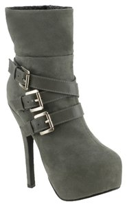 Red Circle Footwear Bootie Highheel Sexy Grey Boots