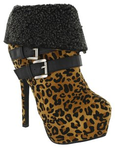 Red Circle Footwear Highheel Sexy Leopard Boots
