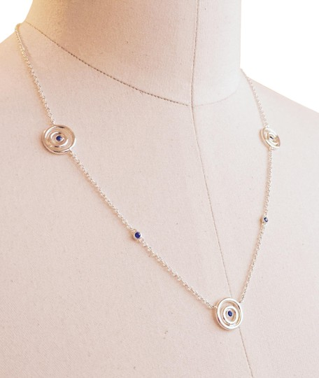 Preload https://img-static.tradesy.com/item/8129011/swarovski-silver-and-blue-sapphire-sterling-eternal-circle-necklace-0-4-540-540.jpg