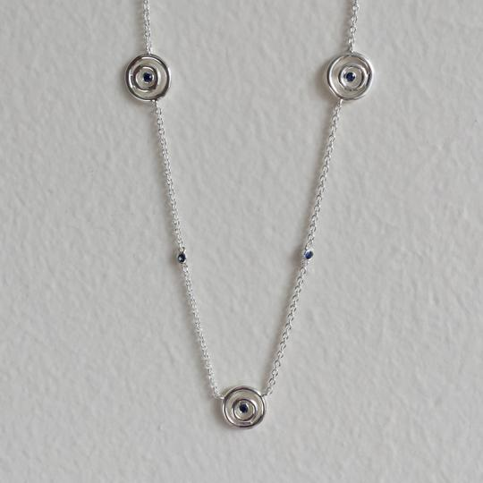 Swarovski Swarovski Sterling Silver and Blue Sapphire Eternal Circle Necklace Image 1