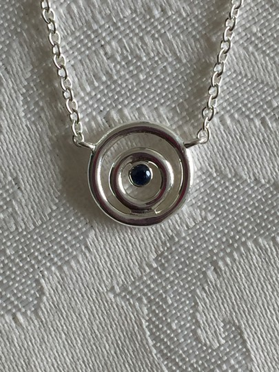 Swarovski Swarovski Sterling Silver and Blue Sapphire Eternal Circle Necklace Image 3