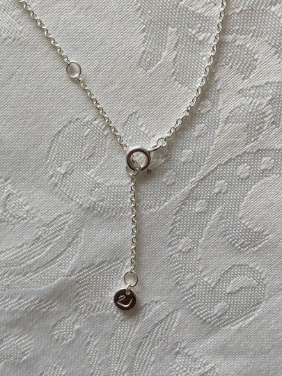 Swarovski Swarovski Sterling Silver and Blue Sapphire Eternal Circle Necklace Image 4
