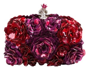 Alexander McQueen Red & Purple Clutch