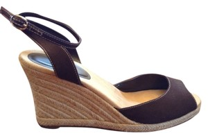 Ann Taylor LOFT Chocolate Brown Wedges