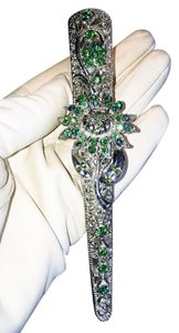 Other Aurora Borealis Emerald Jeweled Hair Clamp [ Roxanne Anjou Closet ]