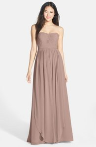 Jenny Yoo Pecan 'aidan' Convertible Strapless Chiffon Gown Dress