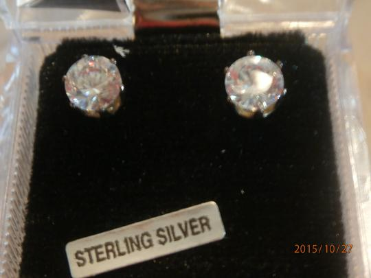Other NEW STERLING SILVER 8CTW CUBIC ZIRCONIA EARRINGS Image 2
