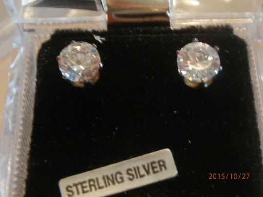 Other NEW STERLING SILVER 8CTW CUBIC ZIRCONIA EARRINGS Image 4