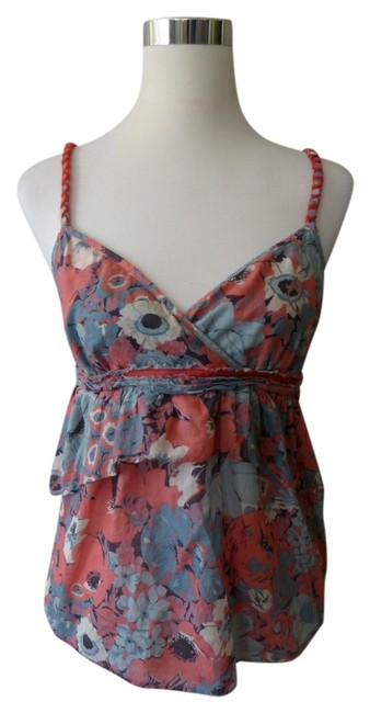 Preload https://img-static.tradesy.com/item/813024/lux-by-urban-outfitters-blue-peach-floral-cami-medium-blouse-size-8-m-0-0-650-650.jpg